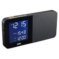 BNC010 Clock Radio by Braun: Retro design, able to synchronize with atomic clocks, and a snooze button. Also available in white. http://tinyurl.com/7wcx3eo  #Clock_Radio #Braun