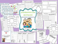 This is a set of great ideas for Grandparents' Day in the classroom!  I must do these!
