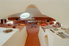 Futuristic living space, Le Palais Bulles -- Designed by fashion designer Pierre Cardin and architect Antti Lovag, ca. 1970s.