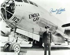 Enola Gay autographed picture from pilot
