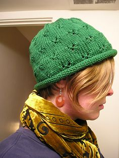 Ravelry  Eyelet Rolled Brim Hat pattern by JoAnne Turcotte 59bc8d02901a