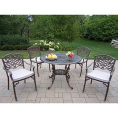 Looking for Oakland Living Capitol Cast Aluminum Table Mississippi Antique Bronze Dining Set ? Check out our picks for the Oakland Living Capitol Cast Aluminum Table Mississippi Antique Bronze Dining Set from the popular stores - all in one.