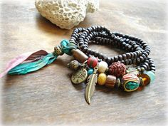 Yoga Bracelet  Yoga Jewelry  Boho Jewelry  by HandcraftedYoga, $42.00
