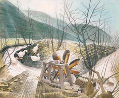 Eric Ravilious, Waterwheel (1938)