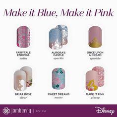 Disney Collection by Jamberry , Disney Princess Aurora, Disney nails, Make it Pink, Make it Blue! Jamberry Disney, Disney Nails, Disney Designs, Nail Designs, Aurora Nails, Disney Collection, Disney Princess Aurora, Briar Rose, Jamberry Nail Wraps