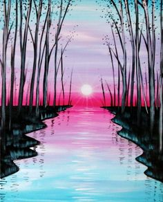 Search our event calendar and find Paint Nite event near Seattle, WA, United States Easy Canvas Painting, Simple Acrylic Paintings, Acrylic Art, Painting & Drawing, Canvas Art, Oil Pastel Art, Painting Inspiration, Landscape Paintings, Watercolor Paintings