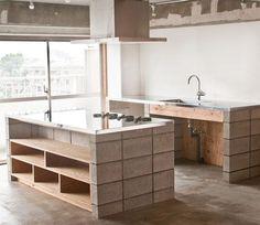 Atelier da Casa: Blocos de concreto na decoração