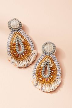 Bead Embroidery earrings - anthropologie
