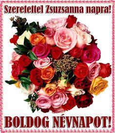 zsuzsanna névnapi köszöntő képeslap Boldog Névnapot kívánok sok szeretettel | Névnap | Pinterest zsuzsanna névnapi köszöntő képeslap
