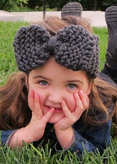 Knitted Large Bow Headband