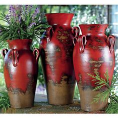 Beautiful....  Fairhaven Pottery Vases - Set of 3