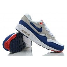 new products 1398f e7247 Nike Air Max 1 Homme OG Neutral Gris Université Rouge Bleu France Pas Cher  Prix