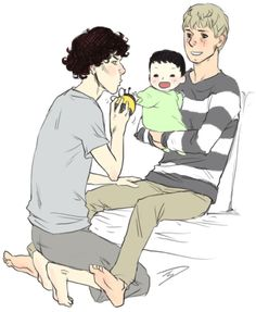 I don't ship, but this is fucking adorable. I'd love to see them try and take care of a baby.