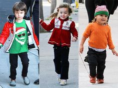 Celebrity kids getting into the holiday spirit! Celebrity Babies, Christmas Sweaters, Parents, Spirit, Celebrities, Holiday, Baby, Fashion, Sons