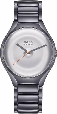 51f2fadbc Rado True Face R27236112 Limited Edition Polished Silver Dial Ceramic Case  and Bracelet Men's Watch Luxury