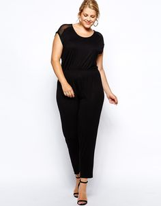 New Look Inspire - Mesh Insert Jumpsuit