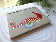 Cuaderno personalizado. Caballito de mar / Customized notebook. Seahorse