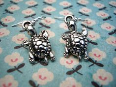 bluebubble Earrings #eBay Jewellery & Watches Turtle Earrings, Gold Ribbons, Kitsch, Tortoise, Belly Button Rings, Sea, Jewellery, Watches, Cool Stuff