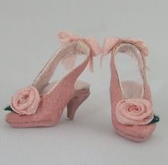 Pink Leather Slingback miniature shoes