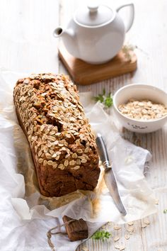 Chlebek cukiniowo-owsiany. Zucchini and oat bread #cukinia #zucchini #courgette #chlebek #bread #śniadanie #breakfast