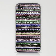 Black Pattern iPhone & iPod Skin by Romi Vega - $15.00
