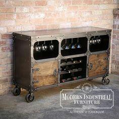 Moderno armario Industrial Almacenamiento de mueble Bar