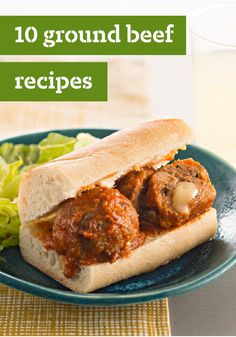 10 Ground Beef Recipes – Got ground beef? The opportunities are endless! From easy to cheesy, we've got the perfect recipe for you and your family's dinner tonight.