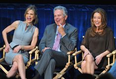 """Actors Kyra Sedgwick, Anthony Denison and Mary McDonnell attend The Paley Center for Media's An Evening with """"The Closer"""" on August 2011 in Beverly Hills, California. Detective, Josh Dallas And Ginnifer Goodwin, Mary Mcdonnell, Kyra Sedgwick, Curvy Women Outfits, Brenda Lee, Major Crimes, The Ellen Show, John Krasinski"""