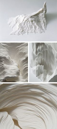 Linear Actions |  Noriko Ambe | hand cut + stacked layers of paper