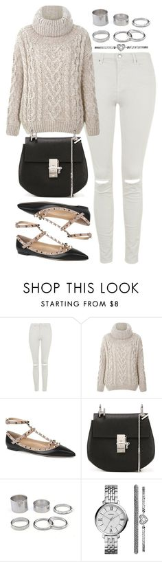 """""""Untitled #326"""" by foreverdreamt ❤ liked on Polyvore featuring Topshop, Valentino, Chloé and FOSSIL"""