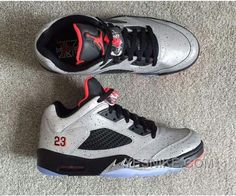 Neymar Air Jordan 5 Low Release Date. Neymar x Air Jordan 5 Low Cement Print Reflective Infrared. Neymar x Air Jordan 5 Low Cement Print Release Date. New Jordans Shoes, Nike Shoes, Cheap Jordans, Nike Air Jordan Retro, Air Jordan Shoes, Red And Black Top, Discount Jordans, Style, History