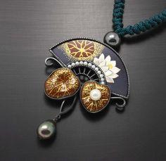 Lotus pendant by Keum Boo and pearls by KAZism on Etsy,(C) Kazuhiko Ichikawa