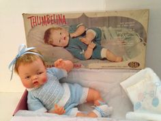 Vintage Antique Ideal OTT-19 THUMBELINA Baby Doll With Rare working cooer  #Dolls