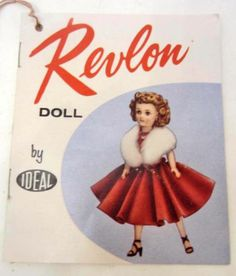 """1950s Ideal Miss Revlon Doll 18"""" in original box with tag 0940 Kissing Pink 