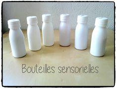 bouteilles sensorielles, sons, inspiration montessori, activité enfant