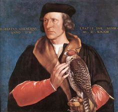 Portrait of Robert Cheseman, falconer of Henry VIII by Hans Holbein the Younger (1533)