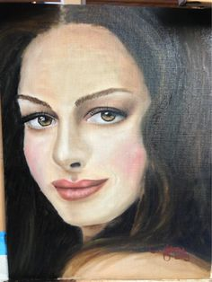 Oil portrait of Anne Hathaway by Sandy Clifton. Accepting commissions. Www.cliftondesigns.com