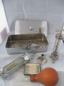 Arztbesteck, medizinische Geräte, at antik, Chirurgen-Besteck, Rotanda