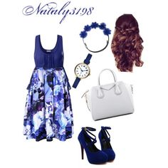 blue blend by nataly3198 on Polyvore featuring polyvore fashion style Ally Fashion Givenchy MARC BY MARC JACOBS Gigi Burris Millinery