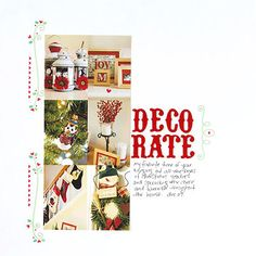 Create a Photo Strip of Decoration Snapshots