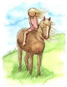 #Children's Room Wall Mural - Horse Girl