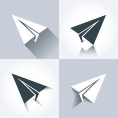 Vector paper plane icons on @creativework247