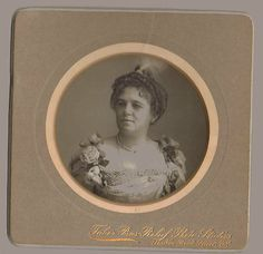Portrait of Lady Sergeant, Victorian London, Bas Relief Photo by Isaac Taber, Patented 1896
