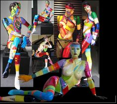 painted mannequin art - Google Search