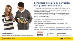 Narración oral y lectura en voz alta | LITERARIAS | Por Gabriela Mariel Arias