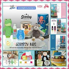Scentsy Kid's line for spring and summer 2016. Buddies, Scrubby buddies, Bath Smoothies, Warmers, Wax, Essential Oil Diffusers and MORE! #fragrance #scentsbykris