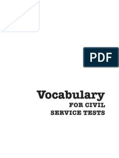 Vocabulary for Civil Service Tests Civil Service Reviewer, Graphic Design Cv, Sentence Construction, Mathematics, Assessment, Civilization, Exam Study, Word Doc, Word Problems