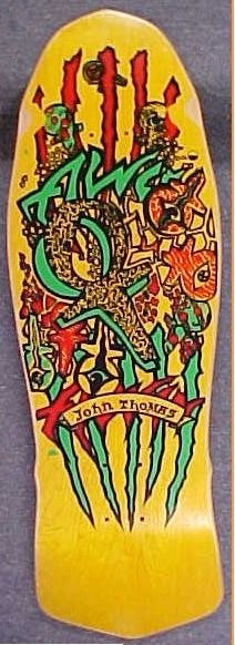 Alva Skateboards, Old School Skateboards, Vintage Skateboards, Skate Bord, Skateboard Deck Art, John Thomas, Skate Decks, Stone Age, Decking