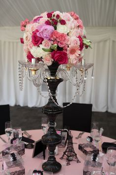 Paris Baby Shower Centerpieces! See more party ideas at CatchMyParty.com!