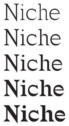 Ellmer Stefan | Type Design: Niche